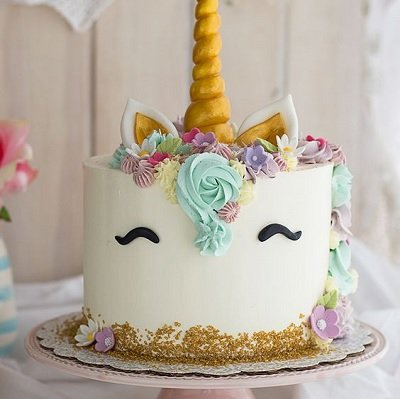 tarta unicornio de fiesta de cumpleaños de niña