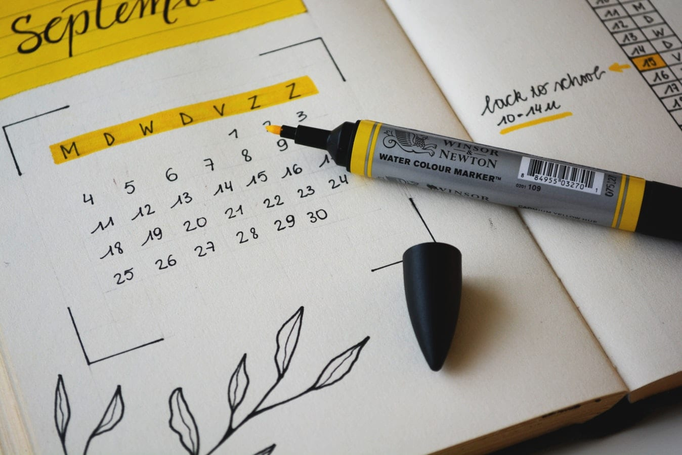 fotografía fecha señalada calendario