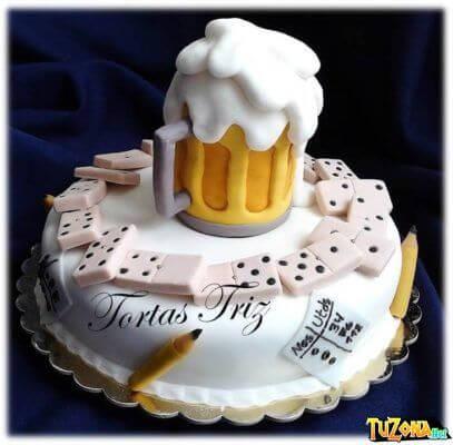 tata de cumpleaños cerveza