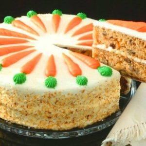 Pastel de cumpleaños de zanahoria