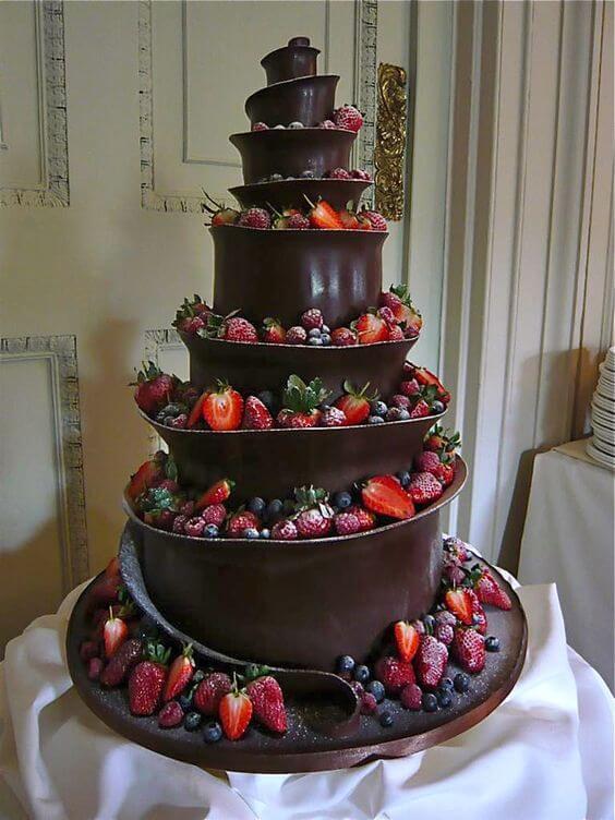 pastel de cumpleaños con chocolate