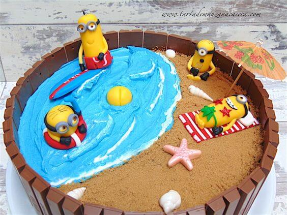 pastel de cumpleaños para niño minions